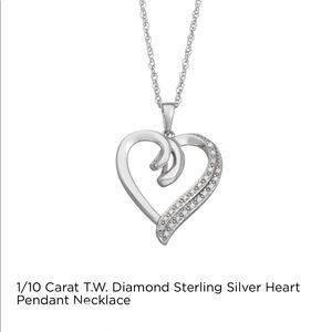 Jewelry - 1/10 CT T.W.Diamond STERLING SILVER HEART NECKLACE